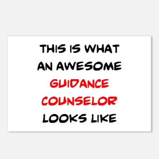 awesome guidance counselo Postcards (Package of 8)