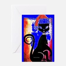 Santa Diva Cat Royal Card Greeting Cards