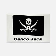 Pirate Flag - Calico Jack Rectangle Magnet