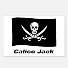 Pirate Flag - Calico Jack Postcards (Package of 8)