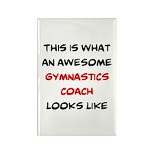awesome gymnastics coach Rectangle Magnet