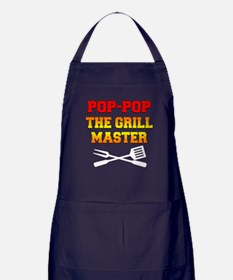 Pop-Pop The Grill Master Apron (dark)
