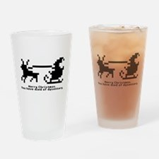 christmas trail (blk/wt) Drinking Glass