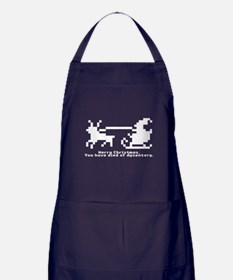 christmas trail (blk/wt) Apron (dark)