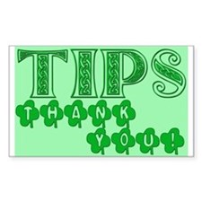 St Patrick's Day Tip Jar Decal
