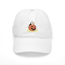 Penguin in Pumpkin Baseball Cap