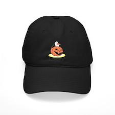 Penguin in Pumpkin Baseball Hat