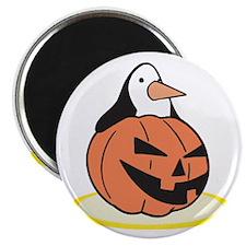 "Penguin in Pumpkin 2.25"" Magnet (10 pack)"