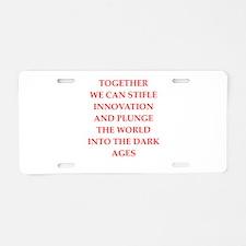 dark ages Aluminum License Plate