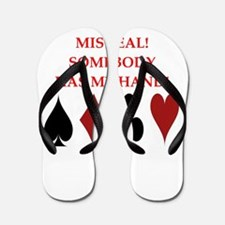 card player Flip Flops