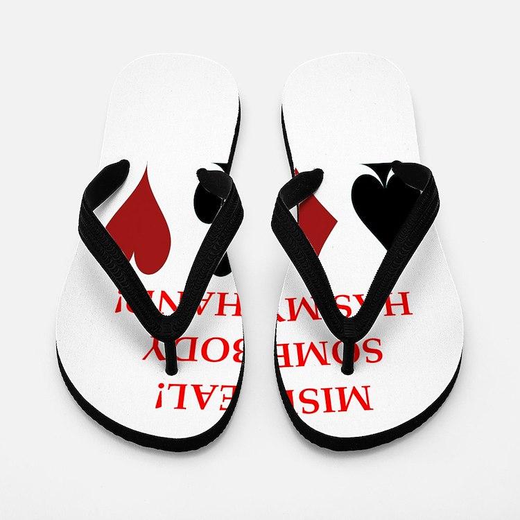 card player Flip Flops