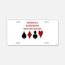 card player Aluminum License Plate