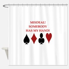 card player Shower Curtain