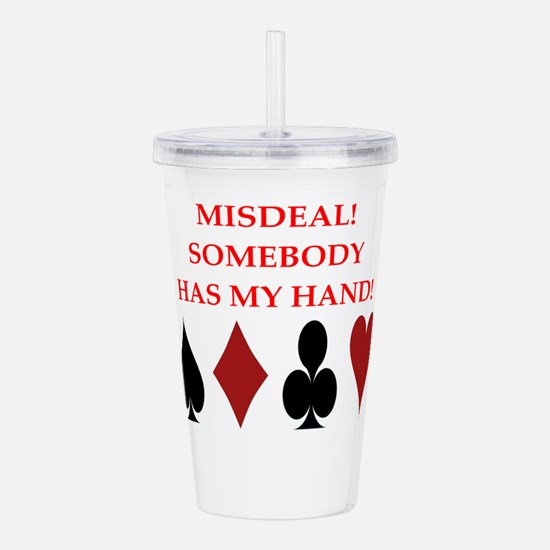 card player Acrylic Double-wall Tumbler