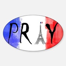 Pray For France Decal