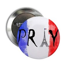 "Pray For France 2.25"" Button (10 pack)"