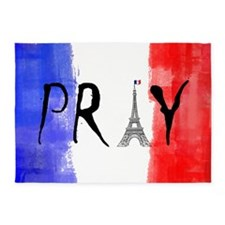 Pray For France 5'x7'Area Rug