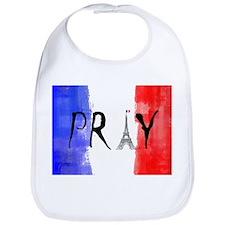 Pray For France Bib