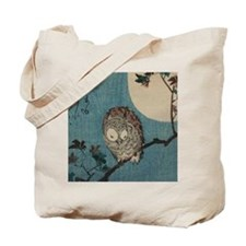 Owl on a Tree Limb; Vintage Japanese Art Tote Bag