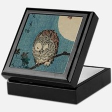 Owl on a Tree Limb; Vintage Japanese Keepsake Box
