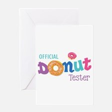 Official Donut Tester Greeting Cards