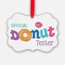 Official Donut Tester Ornament