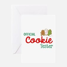Official Cookie Tester Greeting Cards