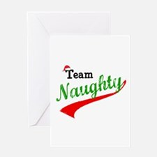 Team Naughty Greeting Cards