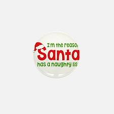 Santa Naughty List Mini Button