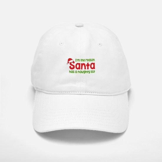 Santa Naughty List Baseball Baseball Cap