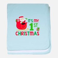 It's My 1st Christmas baby blanket