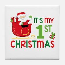 It's My 1st Christmas Tile Coaster