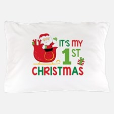 It's My 1st Christmas Pillow Case