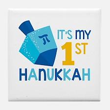 It's My 1st Hanukkah Tile Coaster
