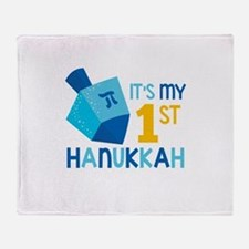 It's My 1st Hanukkah Throw Blanket