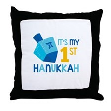 It's My 1st Hanukkah Throw Pillow