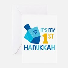 It's My 1st Hanukkah Greeting Cards