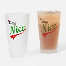 Team Nice Drinking Glass