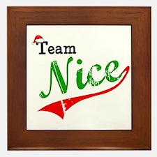 Team Nice Framed Tile