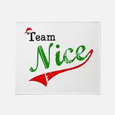 Team Nice Throw Blanket