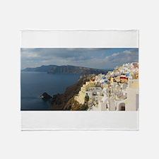 Santorini in the Afternoon Sun Throw Blanket