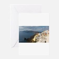Santorini in the Afternoon Sun Greeting Cards