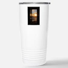 Santorini Sunset Throug Stainless Steel Travel Mug