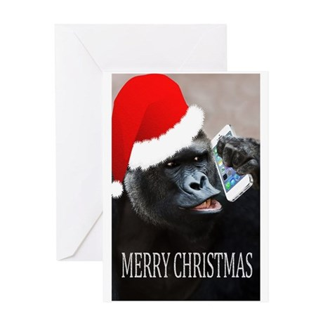 Gorilla Greeting Cards Cafepress
