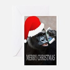 Funny Ape Greeting Card