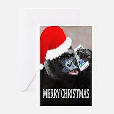Funny Gorillas Greeting Card