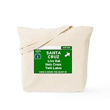 HIGHWAY 1 SIGN - CALIFORNIA - SANTA CRUZ Tote Bag