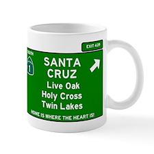 HIGHWAY 1 SIGN - CALIFORNIA - SANTA CRUZ - LI Mugs