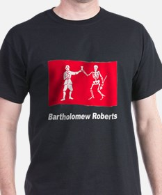 Pirate Flag - Bartholomew Roberts (Front) T-Shirt