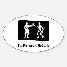 Pirate Flag - Bartholomew Roberts Oval Decal